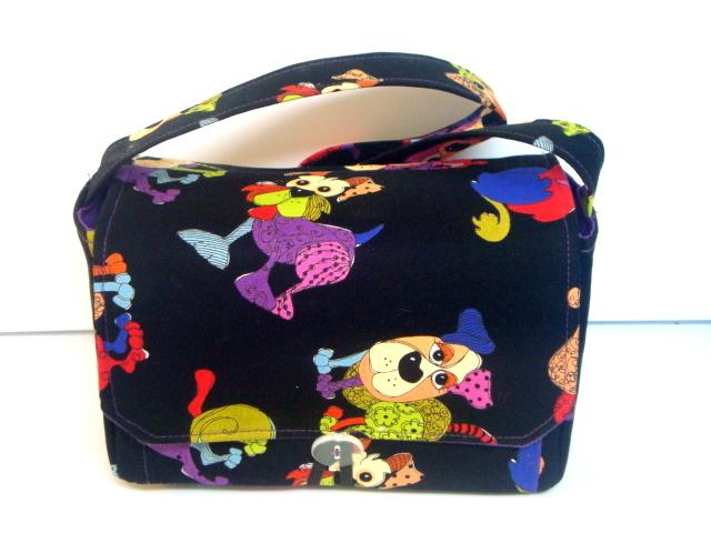 Large 4 Inch Size Coupon Organizer  Coupon Bag Budget Holder Box Attaches to Your Shopping Cart Colorful Doggies