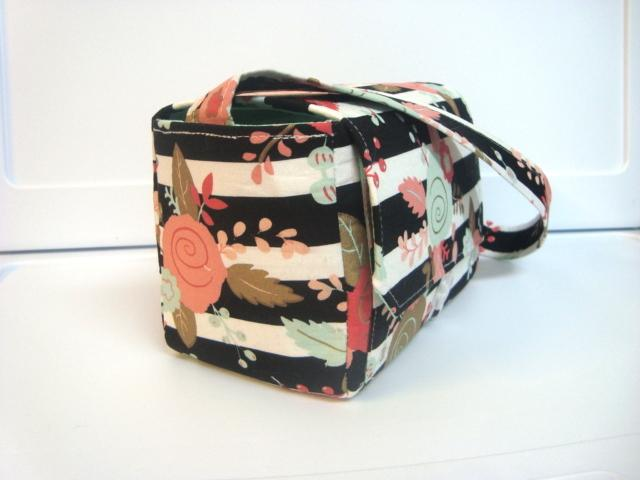 Large 4 Inch Size Coupon Organizer  Coupon Bag Budget Holder Box Attaches to Your Shopping Cart Black White Stripe Floral