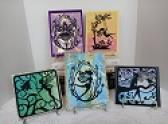 SET OF FIVE SILHOUETTE FAIRY CARDS