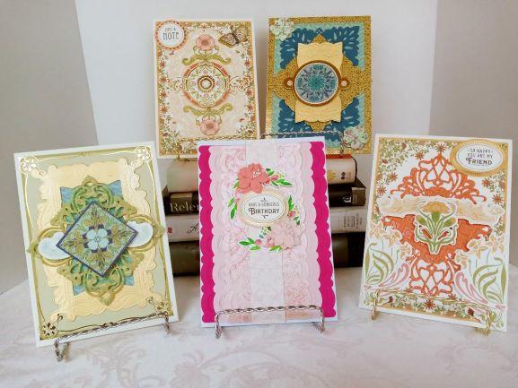 SET OF FIVE FILIGREE CARDS