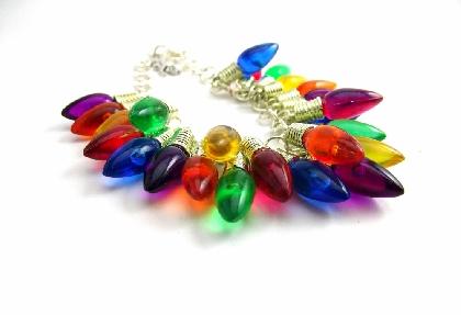Christmas Bracelet Christmas Tree Light Bracelet Christmas Charm Bracelet Christmas Jewelry Holiday Bracelet