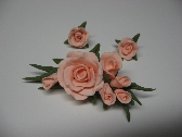 Peach Rose Pin and Earring Set