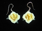 Cold Porcelain Floral Earrings