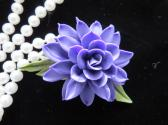 Purple Cold Porcelain Floral Pin