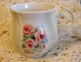 Hand Painted Porcelain Cup Mug Baby Roses