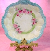 Baby Pink Roses Hand Painted Plate