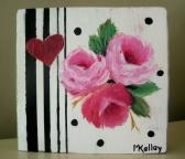 3 Pink Roses Shelf Art