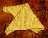 Hand Knitted Washcloth in Gardenia Yellow Cotton Bamboo