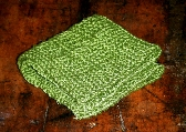 Hand Knitted Pebbled Washcloth or Dishcloth in Sprout Green Cotton Bamboo