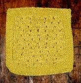 Eyelet Washcloth in Gardenia Yellow Cotton Bamboo