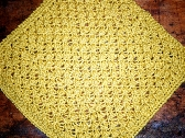 Trinity Washcloth or Dishcloth in Gardenia Yellow Cotton Bamboo