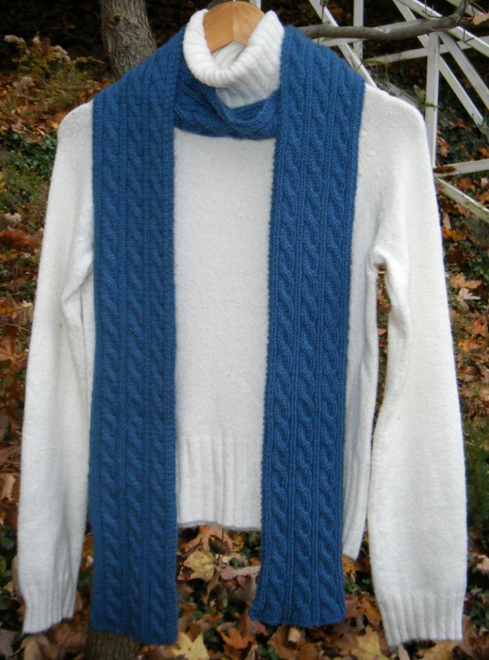 Cashmere Custom Order Cable Knit Irish Hiking Scarf