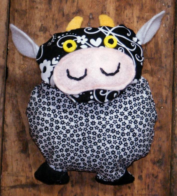 Flossie the Cow in Black and White