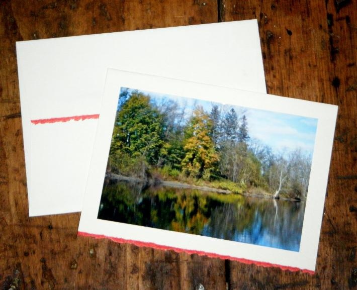 Autumn Landscape Stationery Note Cards Set of 3