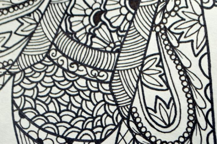 pollinator series honey bee adult coloring page instant download