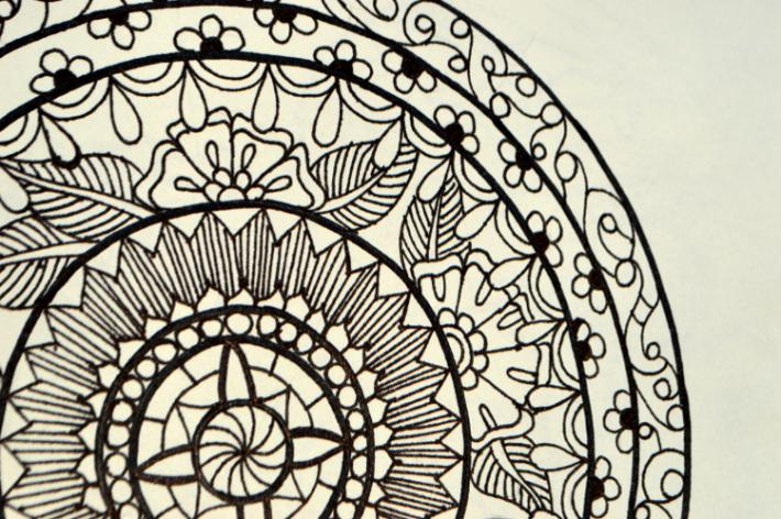 Mandala Adult Coloring Page Instant Download