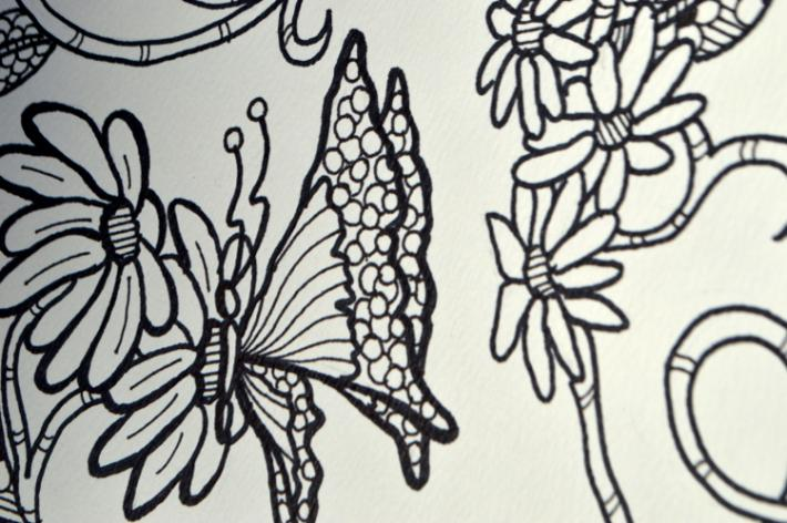 Pollinator Series Butterflies Adult Coloring Page Instant Download