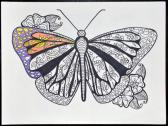 Pollinator Series Butterfly Adult Coloring Page Instant Download