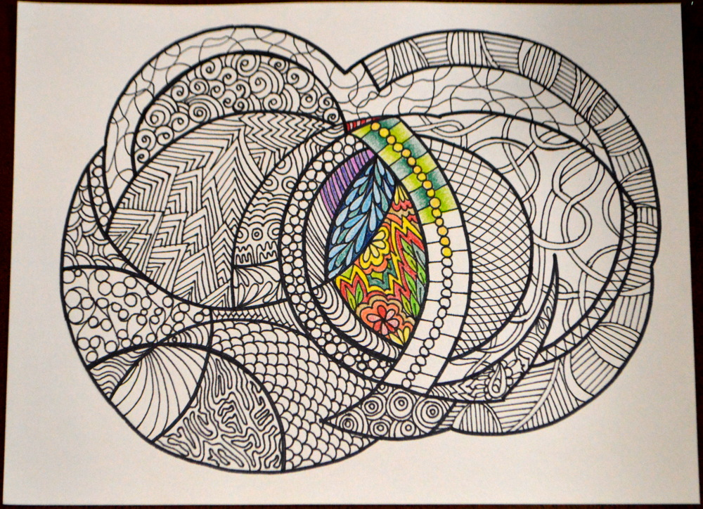 Abstract Circle Coloring Pages : Abstract circles adult coloring page instant download on
