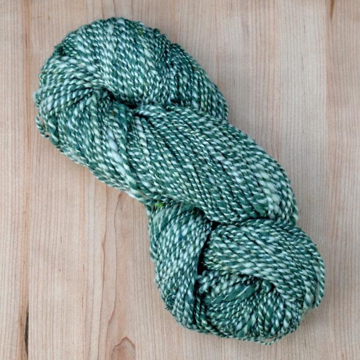 Green Handspun Wool