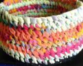 Handmade Bowl 8 x 4 Tye Dye Colors