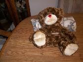 Brown Teddy Bear Snuggle Blanket Cuddle Blanket