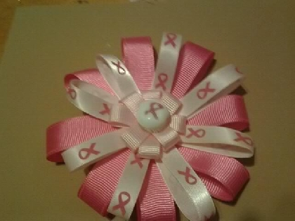 Breast Cancer Awareness Bow