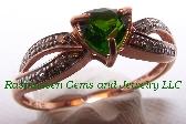 K Tourmaline and Diamond Ring