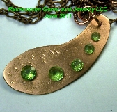 Z Peridot and Copper Necklace