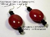 AO Red and Black Bead Earrings