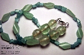 EF Pale Greenblue Necklace