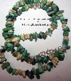 GC Turquoise and Howlite Chip Necklace