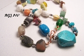 KB Turquoise and Stones Necklace