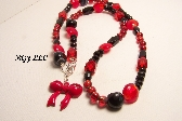 KD Red and Black Necklace