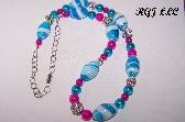 KJ Swirl of Color Necklace