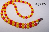 KL Red on Yellow Necklace