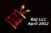 KU Garnet and Gold Pendant
