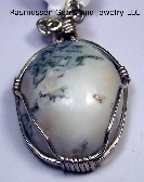 Mossy Agate Cabochon Pendant AA