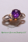 Amethyst and Sterling Silver Ring R