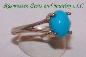 Turquoise and Sterling Silver Ring E