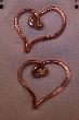 BA Copper Heart Earrings