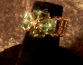 Handwoven Peridot Swarovski Four Leaf Clover Ring