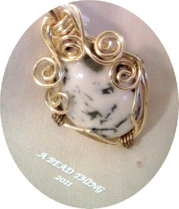 Wire Wrapped Jasper Pendant