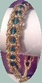 Handwoven Emerald Swarovski Sparkles