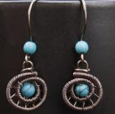 Silver Coiled Turquoise Howlite