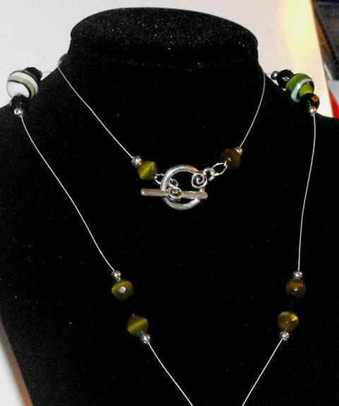 Green Floating Necklace