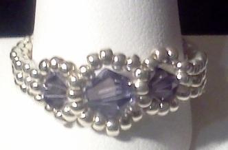 Black Diamond Swarovski Ring