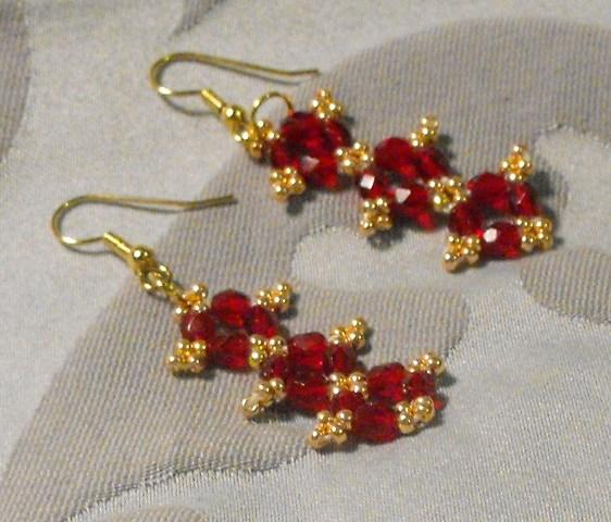 Ruby Red Dangles