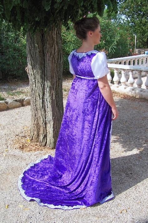 Hand Sewn Josephine Style Gown And Cape