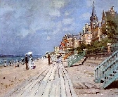 La Plage De Trouville Cross Stitch Pattern